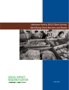 Lakeview Pantry Client Survey: Identifying Client Barriers and Needs
