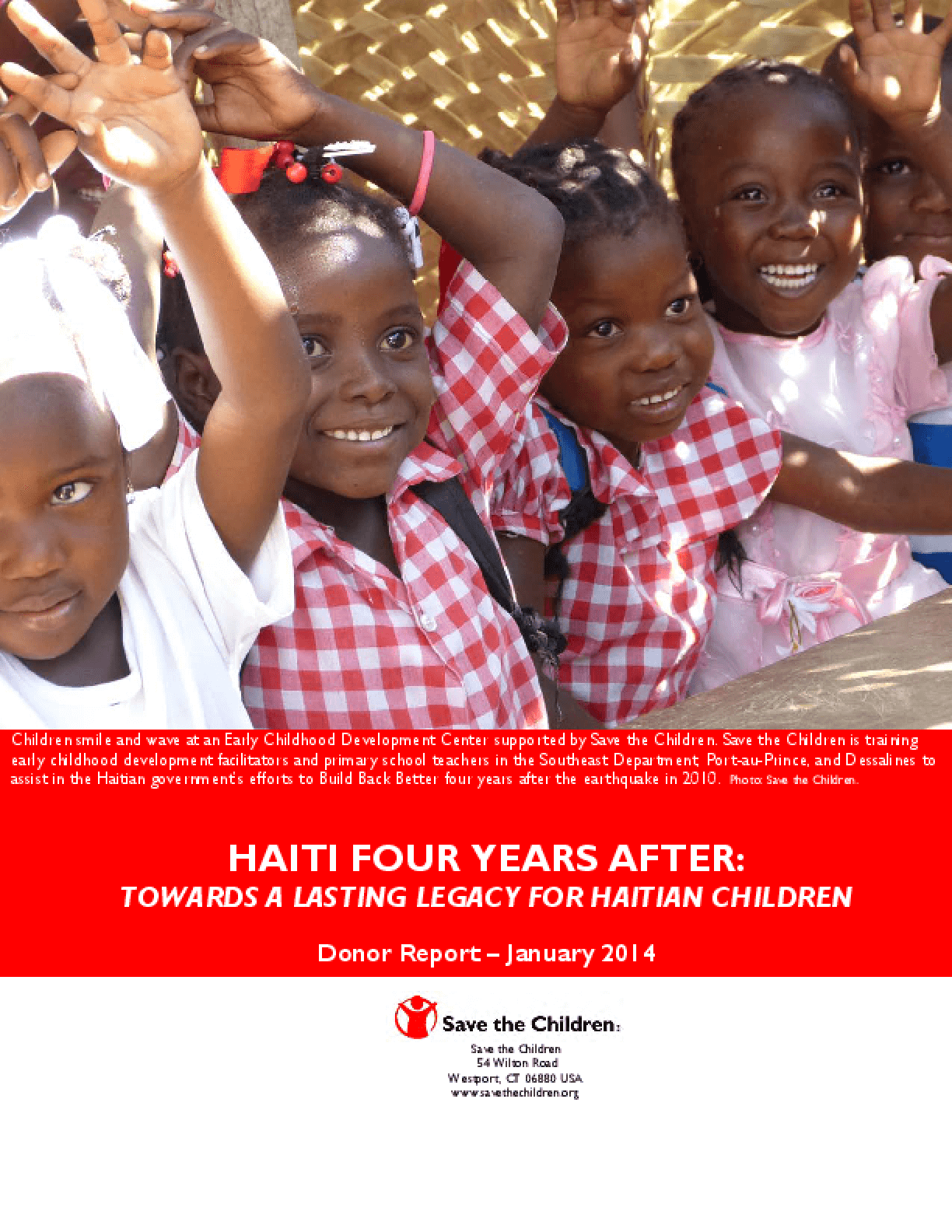 Haiti Four Years Later: Towards a Lasting Legacy for Haitian Children