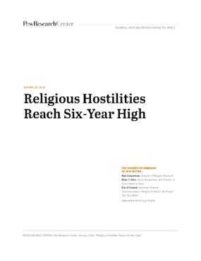 Religious Hostilities Reach Six Year High