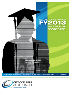 City Colleges of Chicago FY2013: 5-Year Plan Scorecard