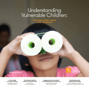 Understanding Vulnerable Children: Who Knows What About Early Childhood - 2013 Annual Report