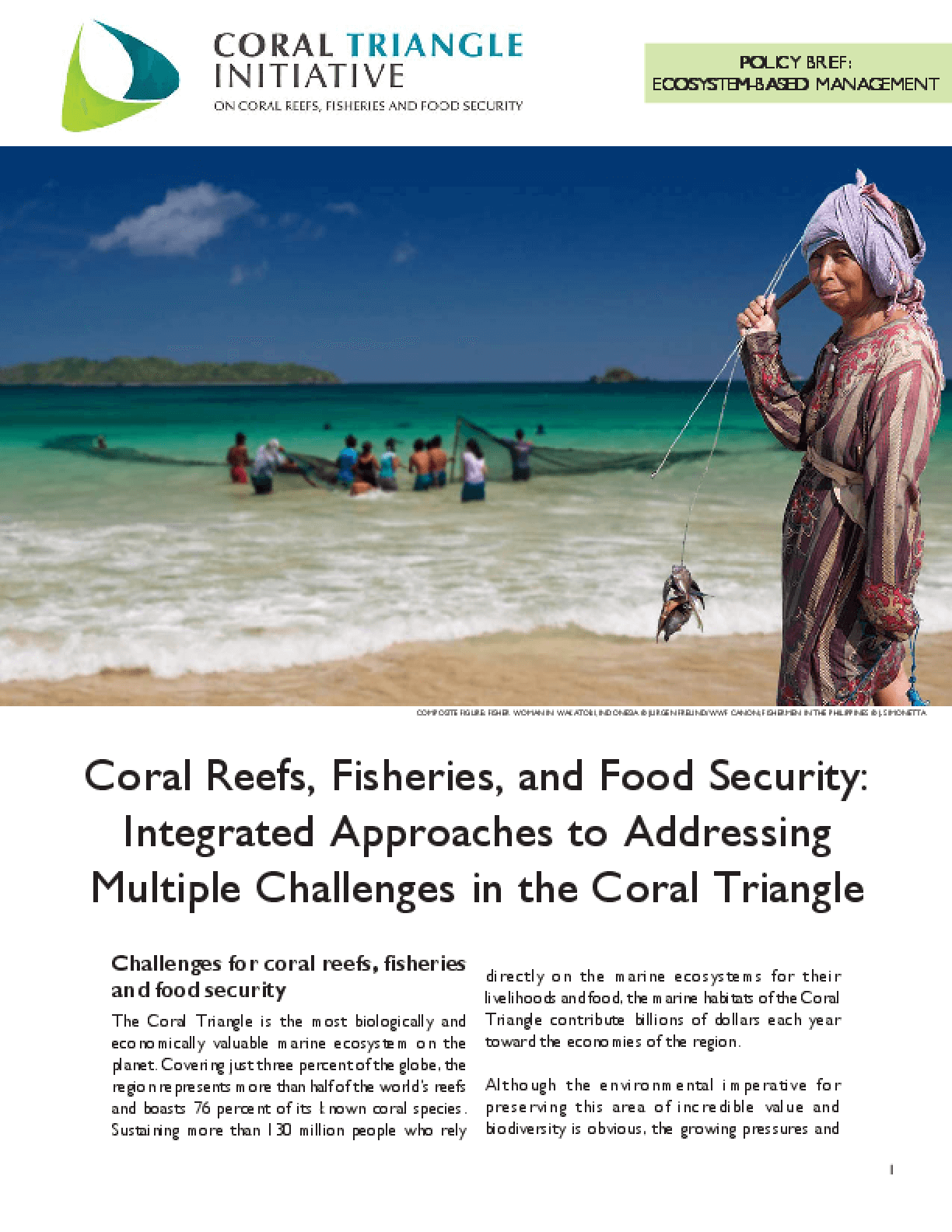 Coral Reefs, Fisheries, and Food Security: Integrated Approaches to Addressing Multiple Challenges in the Coral Triangle