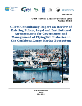 CRFM Consultancy Report on Review of Existing Policy, Legal and Institutional Arrangements for Governance and Management of Flyingfish Fisheries in the Caribbean Large Marine Ecosystem