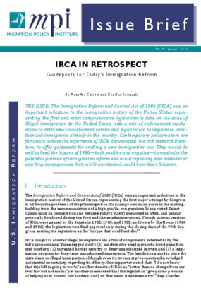 IRCA in Retrospect: Guideposts for Immigration Reform