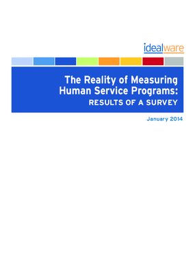 The Reality of Measuring Human Service Programs: Results of a Survey