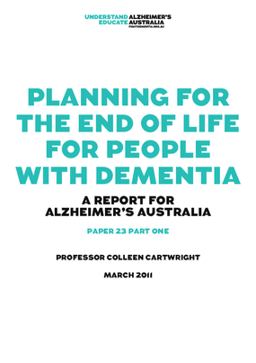Planning for the End of Life for People with Dementia - Part 1