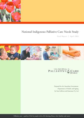 National Indigenous Palliative Care Needs Study