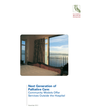 Next Generation of Palliative Care: Community Models Offer Services Outside the Hospital