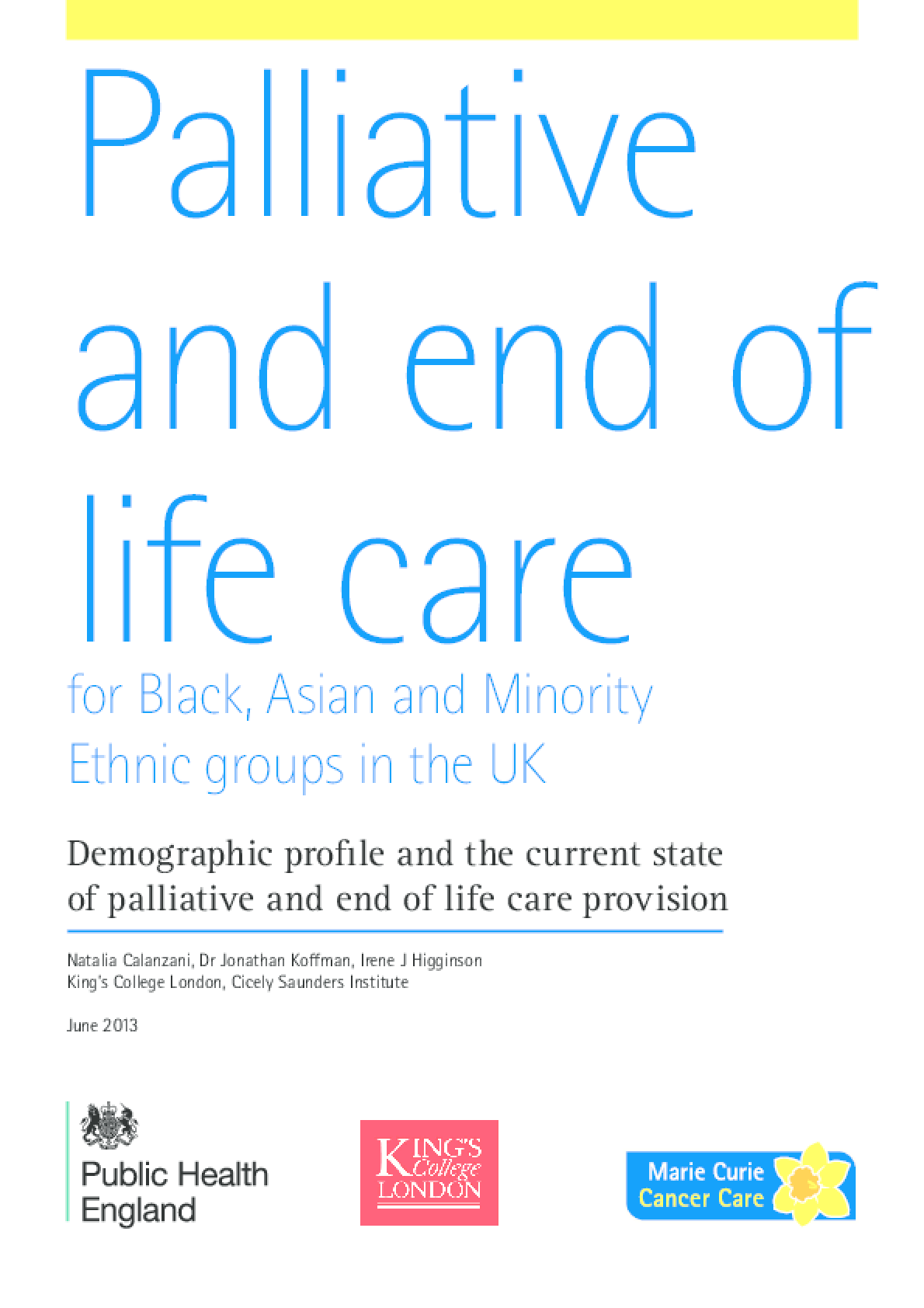 Palliative and End of Life Care for Black, Asian, and Minority Ethnic Groups in the UK