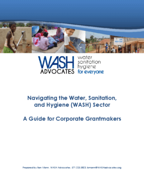 Navigating the Water, Sanitation, and Hygiene (WASH) Sector: A Guide for Corporate Grantmakers