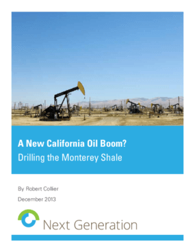 A New California Oil Boom? Drilling the Monterey Shale