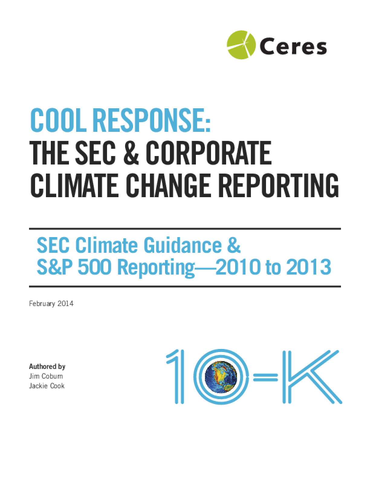 Cool Response: The SEC & Corporate Climate Change Reporting