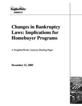 Changes in Bankruptcy Laws: Implications for Homebuyer Programs