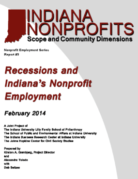 Recessions and Indiana's Nonprofit Employment