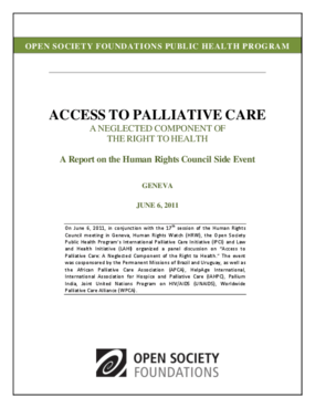 Access to Palliative Care: A Neglected Component of the Right to Health
