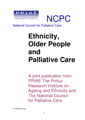 Ethnicity, Older People and Palliative Care