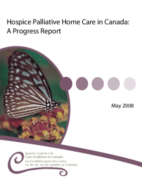 Hospice Palliative Home Care in Canada: A Progress Report