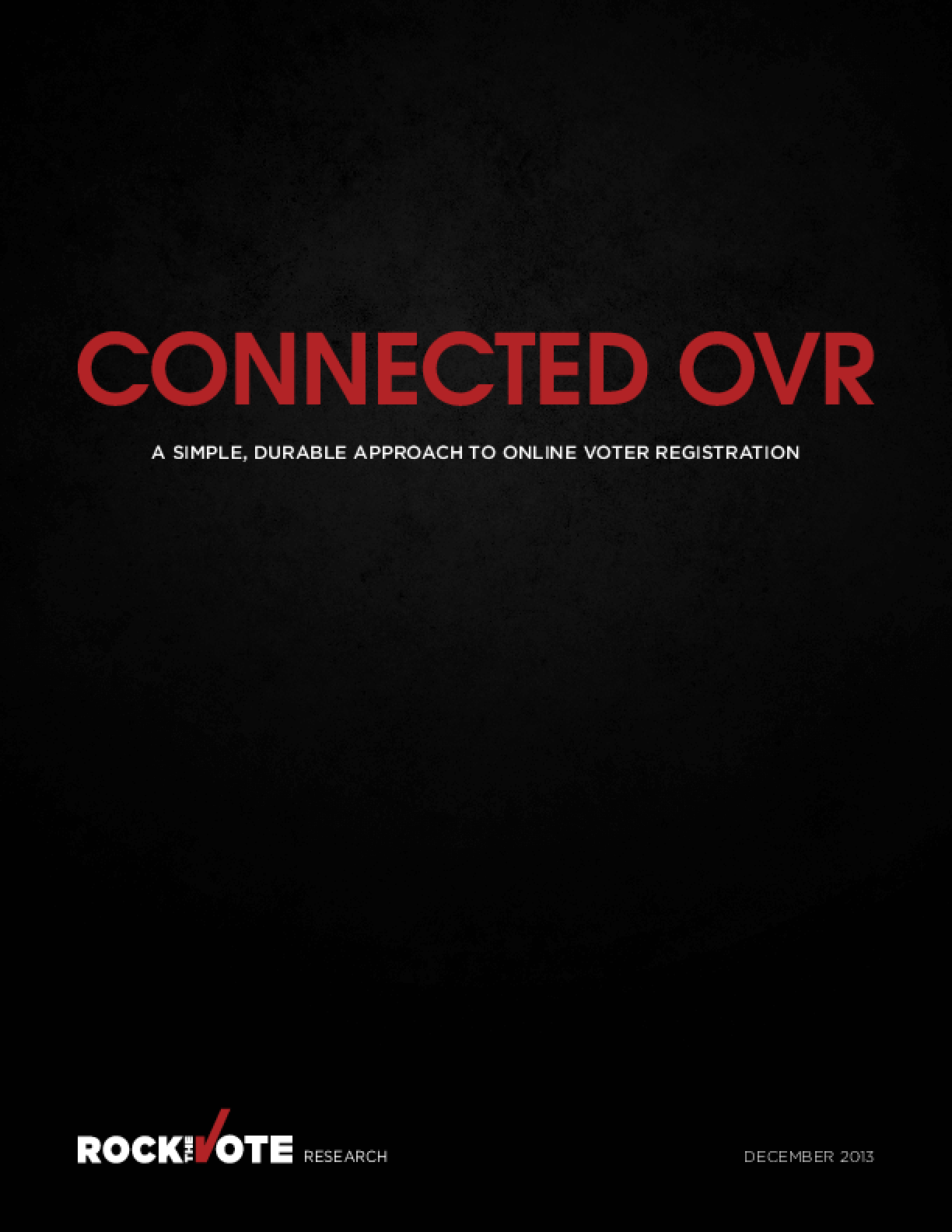 Connected OVR: A Simple, Durable Approach to Online Voter Registration