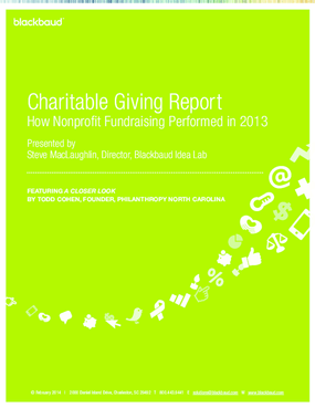 Charitable Giving Report: How Nonprofit Fundraising Performed in 2013