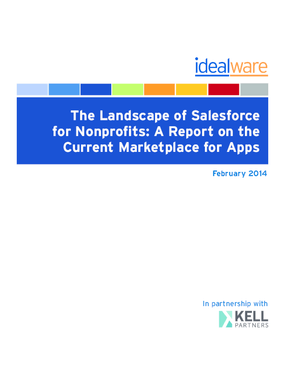 The Landscape of Salesforce for Nonprofits: A Report on the Current Marketplace for Apps