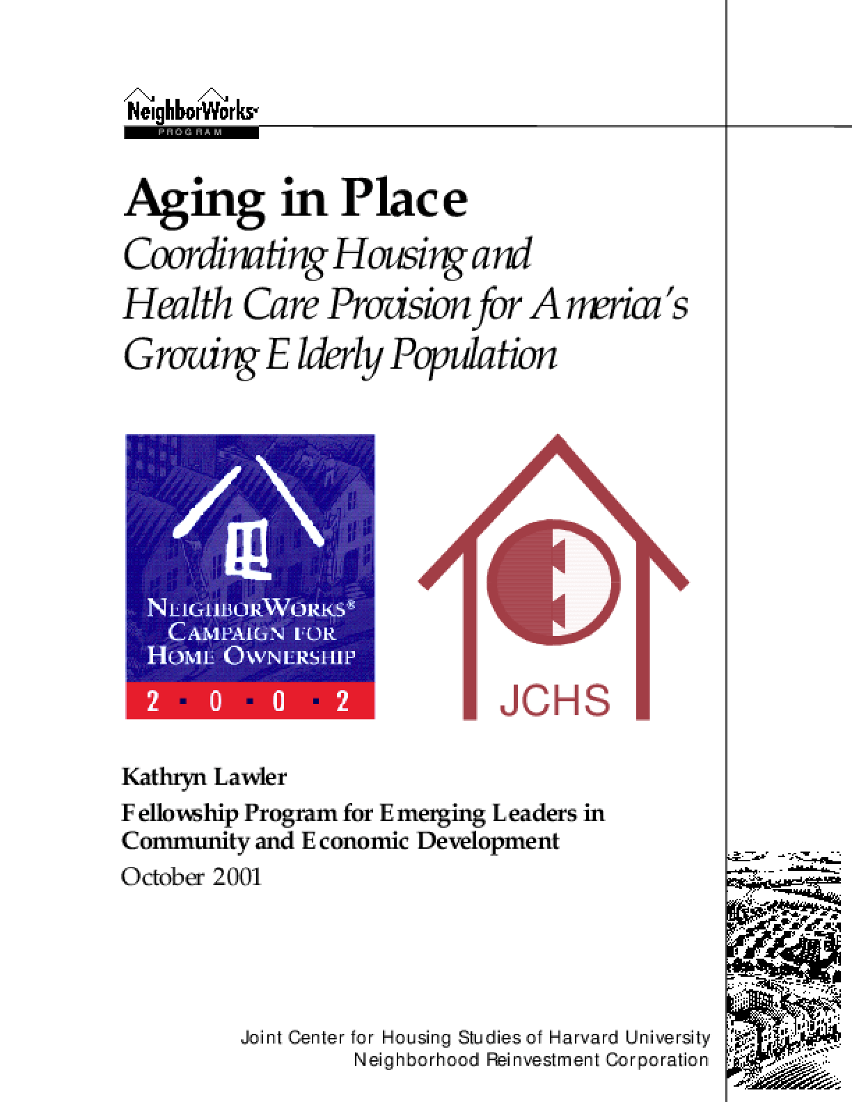 Aging in Place - Coordinating Housing and Health Care Provision for America