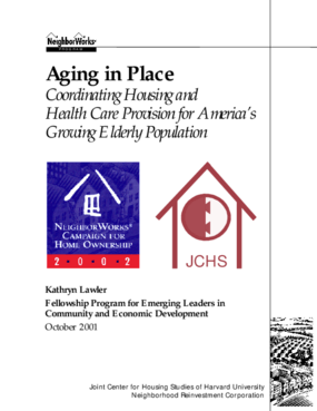 Aging in Place - Coordinating Housing and Health Care Provision for America's Growing Elderly Population