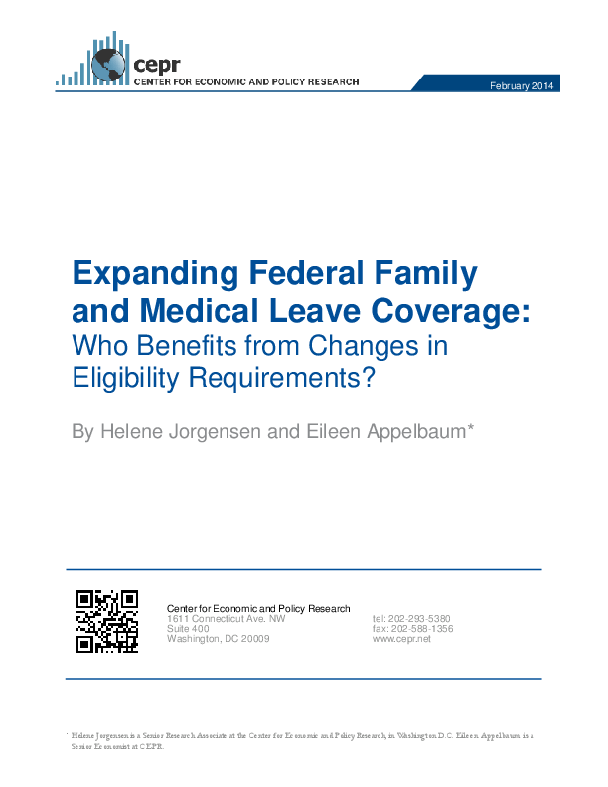 Expanding Federal Family and Medical Leave Coverage: Who Benefits from Changes in Eligibility Requirements?
