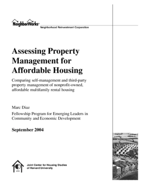 Assessing Property Management for Affordable Housing