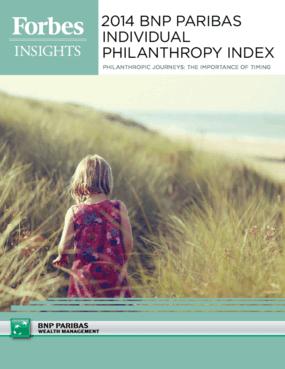 2014 BNP Paribas Individual Philanthropy Index
