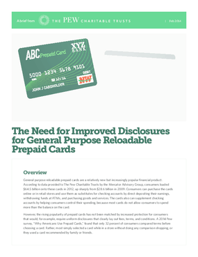 The Need for Improved Disclosures for General Purpose Reloadable Prepaid Cards