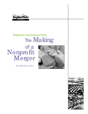 Bridging the Organizational Divide -- The Making of a Nonprofit Merger