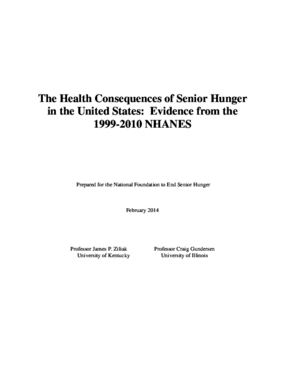 The Health Consequences of Senior Hunger in the United States: Evidence from the 1999-2010 NHANES