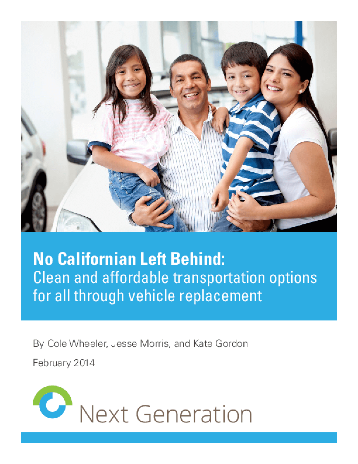 No Californian Left Behind: Clean and Affordable Transportation Options for All Through Vehicle Replacement