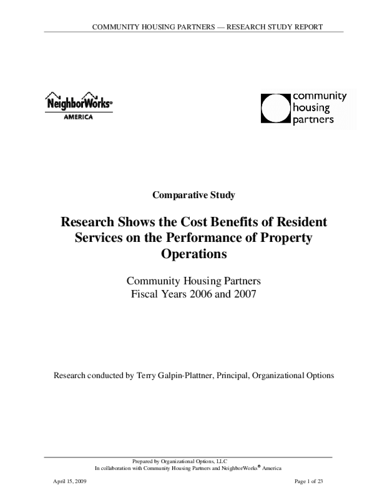 Research Shows the Cost Benefits of Resident Services on the Performance of Property Operations