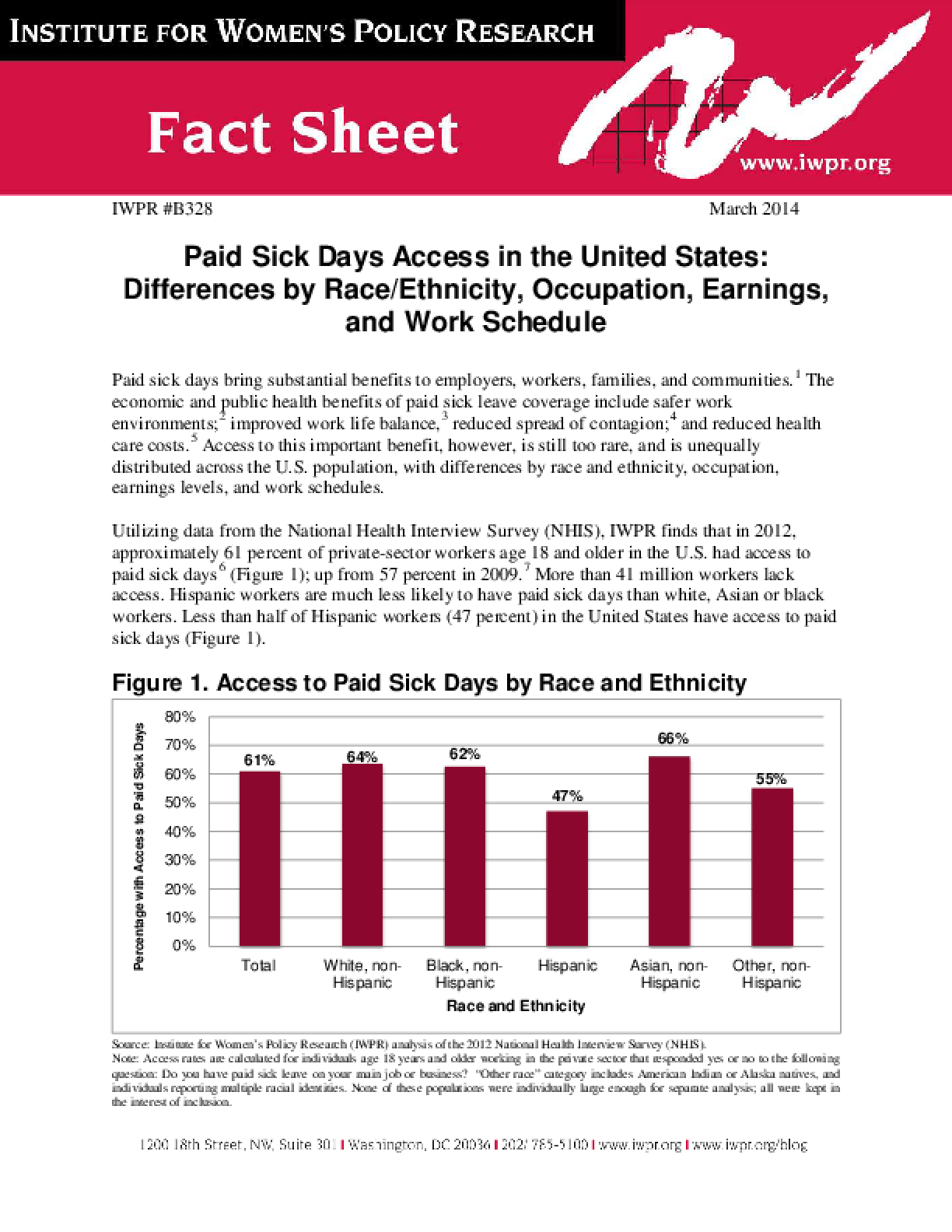 Paid Sick Days Access in the United States: Differences by Race/Ethnicity, Occupation, Earnings, and Work Schedule