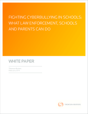 Fighting Cyberbullying in Schools: What Law Enforcement, Schools, and Parents Can Do