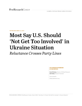 Most Say U.S. Should 'Not Get Too Involved' in Ukraine Situation