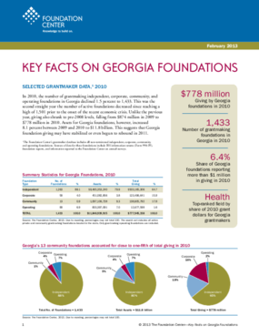 Key Facts on Georgia Foundations 2013