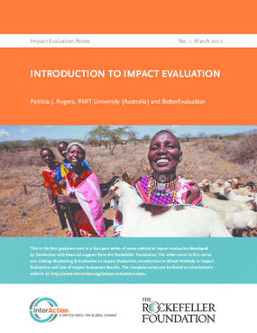 Introduction to Impact Evaluation