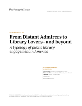 From Distant Admirers to Library Lovers - and Beyond: A Typology of Public Library Engagement in America