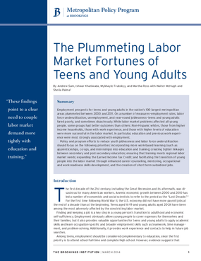 The Plummeting Labor Market Fortunes of Teens and Young Adults