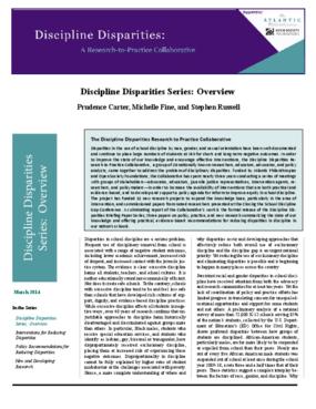 Discipline Disparities Series: Overview