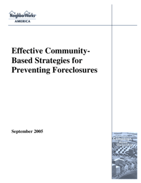 Effective Community-Based Strategies for Preventing Foreclosures