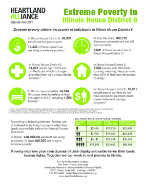 Poverty Fact Sheet for Illinois House District 6