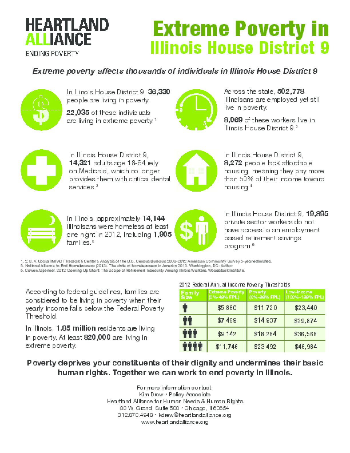 Poverty Fact Sheet for Illinois House District 9