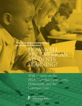 The 2014 Brown Center Report on American Education: How Well Are American Students Learning?