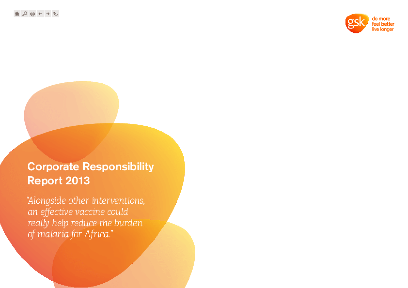 GSK Corporate Responsibility Report 2013