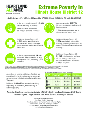 Poverty Fact Sheets for Illinois House District 12