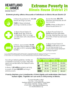 Poverty Fact Sheets for Illinois House District 21