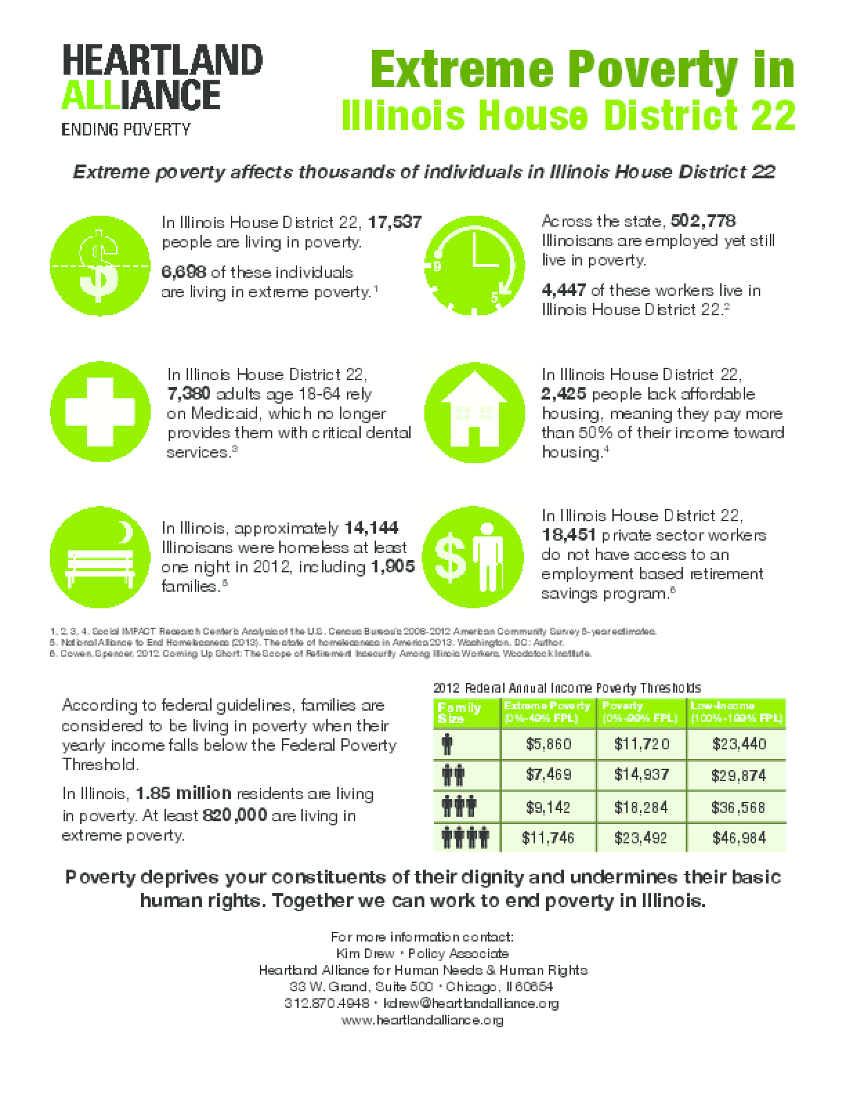 Poverty Fact Sheets for Illinois House District 22
